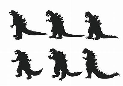 Godzilla Silhouette Monster Graphics Views Vecteezy Clipartbest