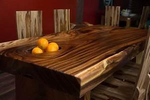 Esstisch suar holz massiv tisch baumscheibe natur for Tisch baumscheibe