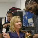 nba denver nuggets player kenneth faried visits alma mater