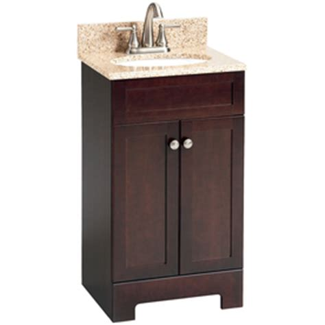 18 inch bathroom vanities are very popular among interior decor enthusiasts as they allow for an added aesthetic appeal to the overall vibe of a property. Shop Style Selections Broadway Espresso Undermount Single ...