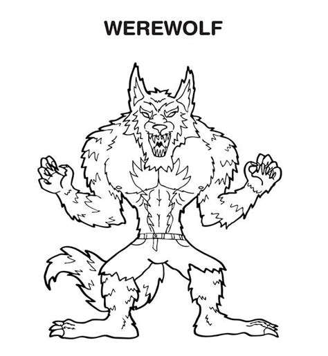 Scary Halloween Coloring Pages Online by Werewolf Coloring Pictures Coloring Home