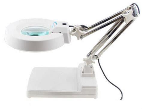 desk magnifying glass with light 110v 10x loupes glass lens diopter desk table lighting led
