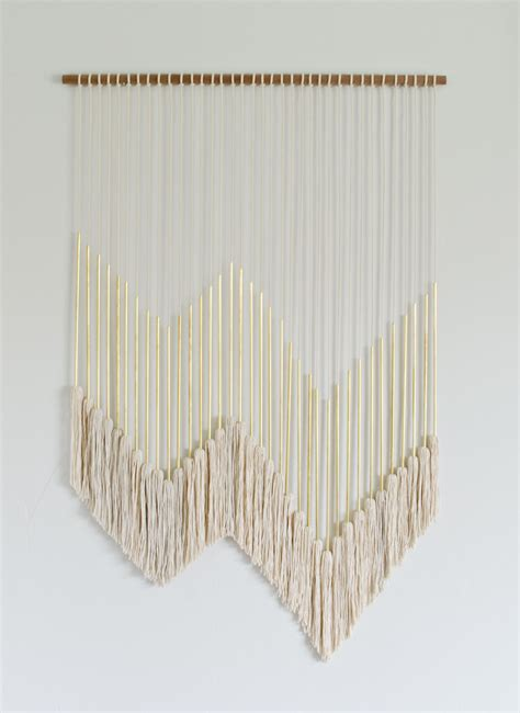 Diy Modern Gold Wall Hanging With Tassels  The Vintage
