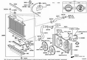 2013 Toyota Venza Engine Cooling Fan Shroud  Coupling