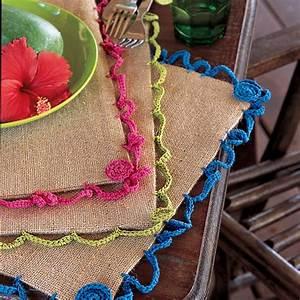 Set De Table Au Crochet : des sets de table en toile de jute marie claire ~ Melissatoandfro.com Idées de Décoration