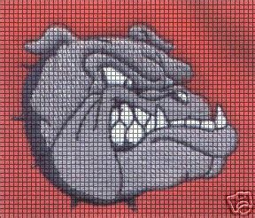 bulldog face crochet pattern