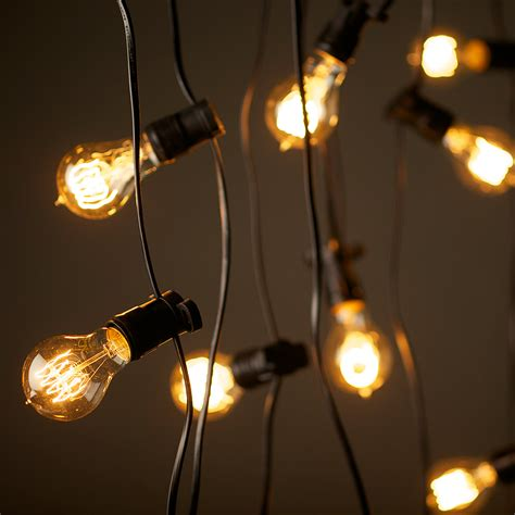 light bulbs on a string vintage outdoor wall lights blends well in any