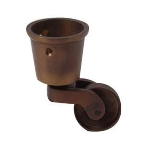 restorers solid brass cup caster 3 4 inch wheel