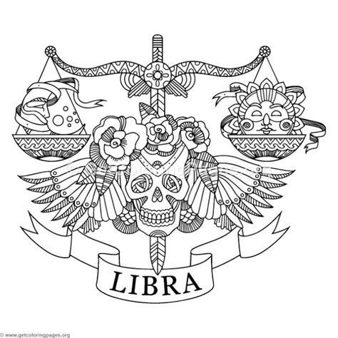 zentangle libra horoscope sign coloring pages getcoloringpagesorg