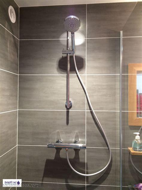 plantes dans la chambre salle de bain sol noir mur gris