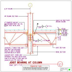 st18 1 steel joist to steel wf column details axiomcpl central professional library