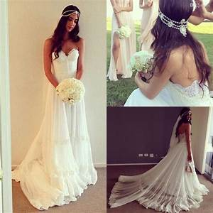 vintage dresses beach wedding dress cheap dropped waist With affordable bohemian wedding dresses
