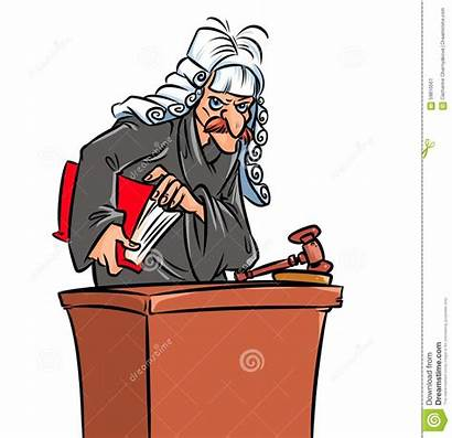 Judge Cartoon Illustration Terrible Criminals Convicted Illustrations