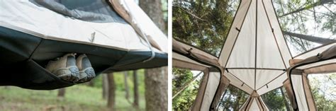Tent Hammock Combination by Elevated Cing Meet The Snow Peak Sky Nest Gearjunkie