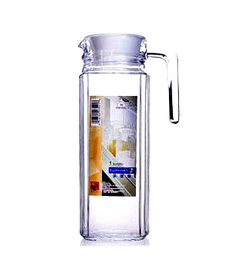zero water pitcher luminarc fridge jug with lid 1100ml buy at best