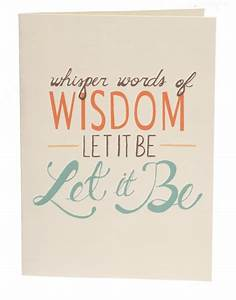 Let it be. | The Little Things in Life | Pinterest