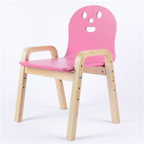 chaise reglable solide enfant en bois tabourets chaises backrests bouleau
