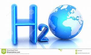 H2o  Formula Of Water Stock Illustration  Image Of World