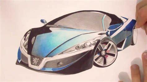 futuristic cars drawings peugeot futuristic car drawing by ismairu youtube