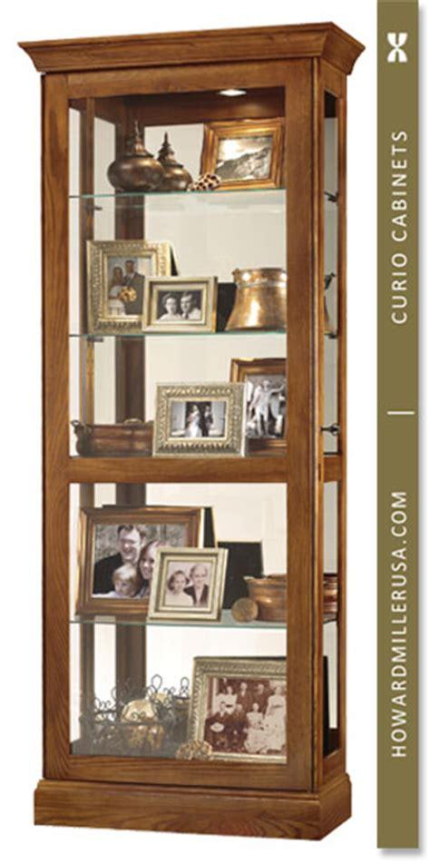 oak curio cabinets for 680478 howard miller five levels display oak curio cabinet
