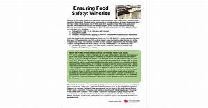 Ensuring Food Safety  Wineries