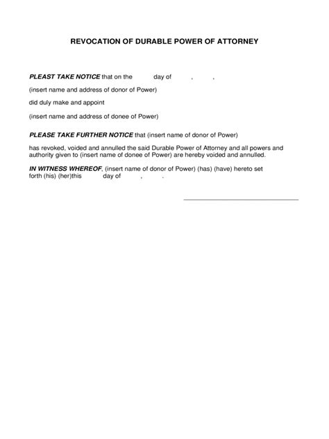 exle of power of attorney form new york power of attorney form free templates in pdf