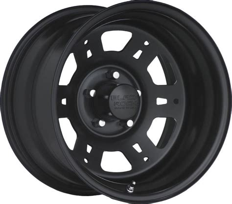 black rock series  lobo steel wheel  matte black