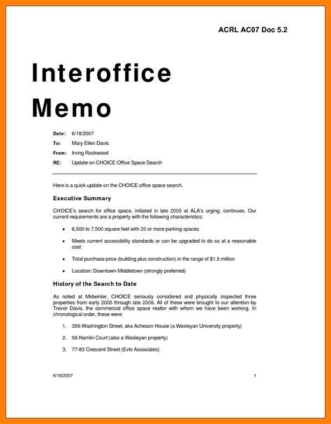 interoffice memo sample format web marketing manager