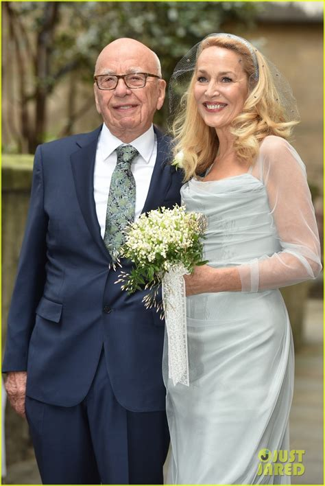 rupert murdoch jerry hall  married  wedding