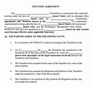 Assignment And Novation Assignment And Novation Agreement Sample
