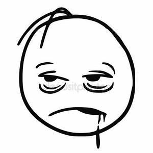 Stickman Cartoon Vector of Tired, Sleepy, Sick, Drunken or ...