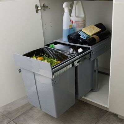 poubelle de porte cuisine poubelle de porte scala 2 x 20 l castorama