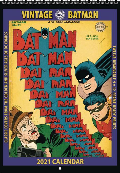 apr vintage dc comics batman  wall calendar