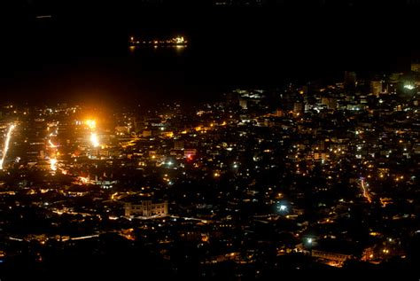 File:Central Freetown at night, Sierra Leone. January1 ...