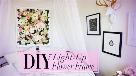 diy flower frame  christmas lights