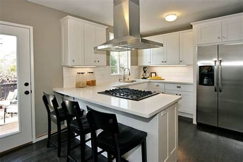 remodeled kitchens with islands homeofficedecoration u shaped kitchen designs with