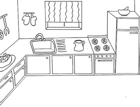 dessin de cuisine cuisine 18 bâtiments et architecture coloriages à