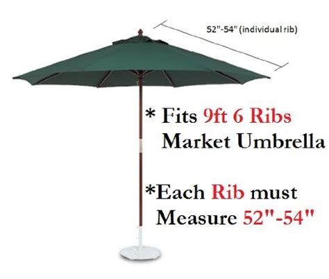 9ft umbrella replacement canopy 6 ribs in taupe canopy
