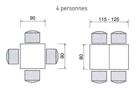 dimension table cuisine cuisine ou salle à manger quel espace prévoir pour une