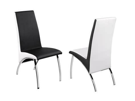 chaise noir et blanc lot de chaises simili noir et blanc et chrome