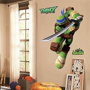 teenage mutant ninja turtles leo peel and stick tmnt wall With awesome ninja turtle wall decals