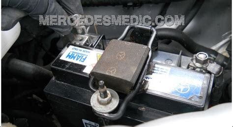 mercedes secondary aux backup battery replacement diy guide