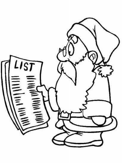 Santa Santas Christmascoloring Coloring Pages