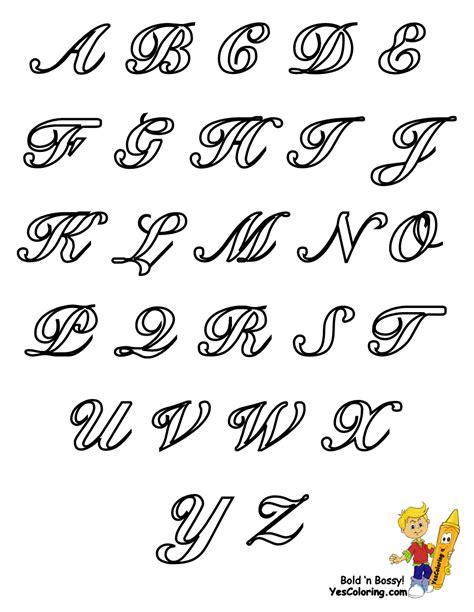 classic coloring pages alphabet cursive letters