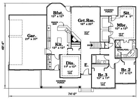 cape  house plans open floor plan cottage house plans