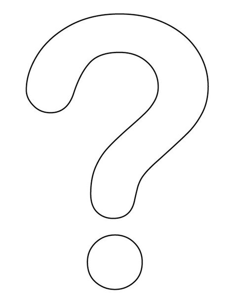 question mark pattern   printable outline