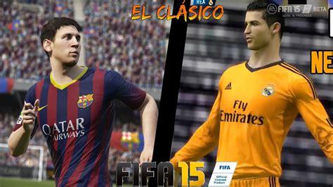 FIFA 15 - BARCELONA VS REAL MADRID | El Clásico (In-Game ...