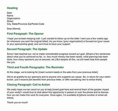 Letter Sample Sponsorship Write Letters Follow Template