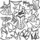 Underwear Lingerie Coloring Vector Printable Getdrawings Illustration Depositphotos Getcolorings Illustrations sketch template