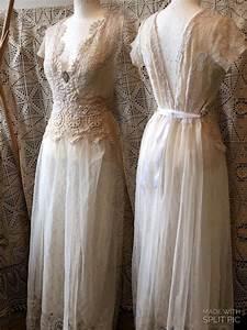 vintage inspired wedding dress victorian cream and white With vintage white wedding dress
